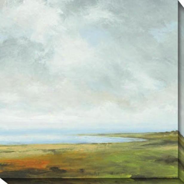 Storm Series I Canvas Wall Art - I, Green