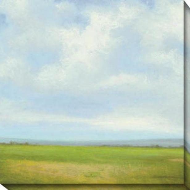 Storm Series Ii Canvas Wall Art - Ii, Green