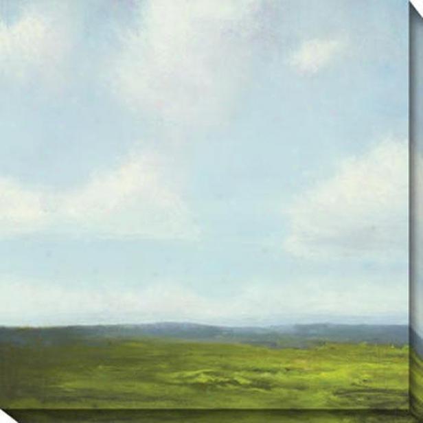Storm Series Iv Canvas Wall Art - Iv, Gre3n