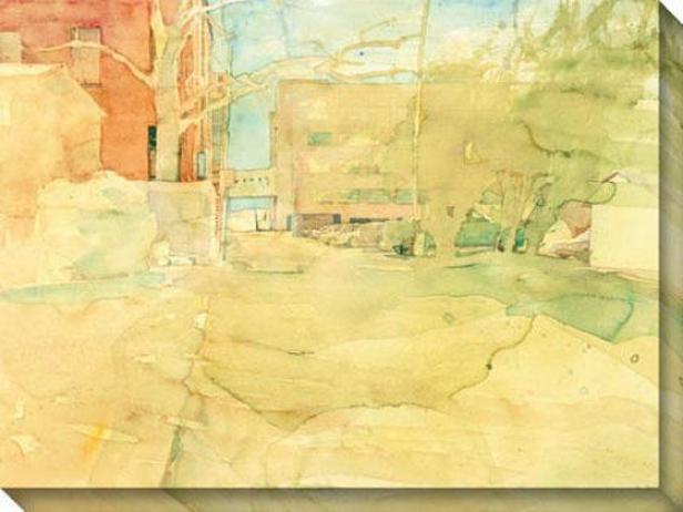 """""""study Of A Shortcut Canvas Wall Art - 48""""""""hx36""""""""w, Yellow"""""""