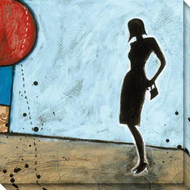 """subtle Deception Canvas Wall Art - 40""""hx40""""w, Blue"""