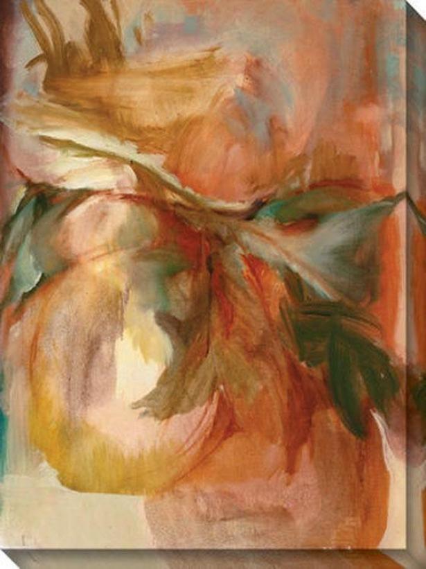 """suggestive Thought Canvas Wall Art - 36""""hx48""""w, Peach"""