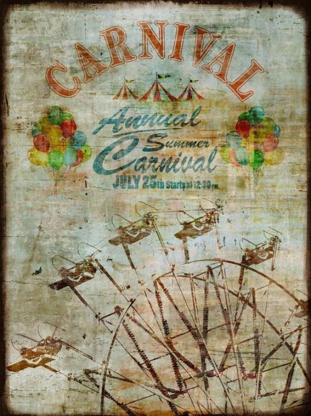 """""""summer Carnival Wall Art - 30""""""""wx40""""""""hx2""""""""d, Blue"""""""