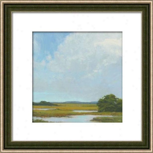 Summer Clouds I Framed Wall Art - I, Matted Silver
