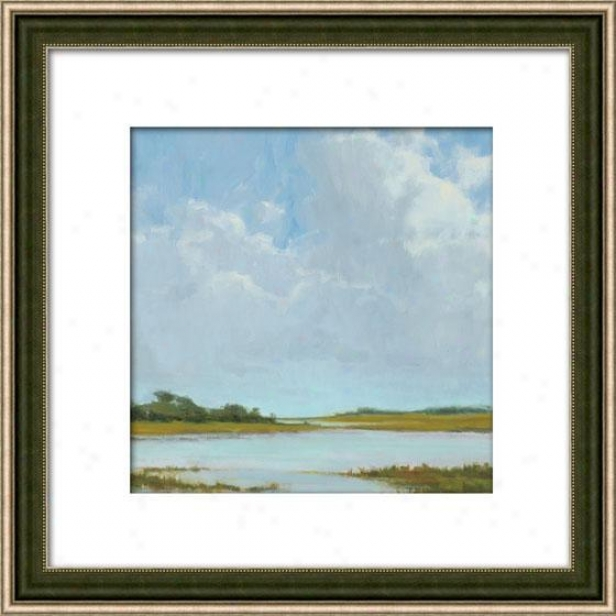 Summer Clouds Ii Framed Wall Ar t- Ii, Matted Silver