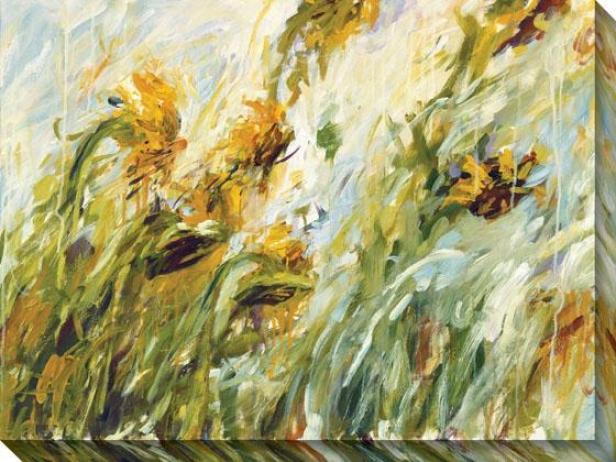 Sunflower Stare Ii Canvas Waol Art - Ii, Yellow