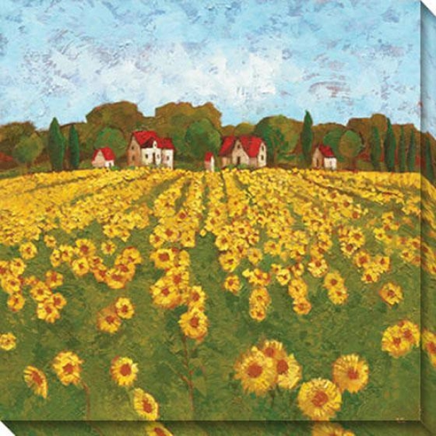 Sunflower Vista I Canvas Wall Art - I, Yellow