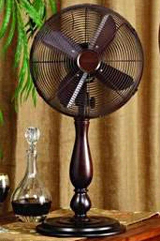 """sutter Oscillating Fan - Tabletop 12""""d, Brown"""