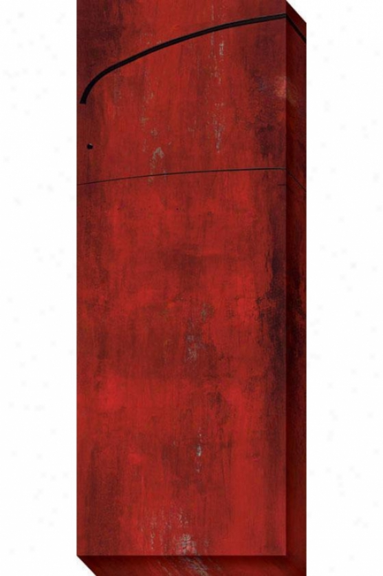 Swayed I Canvas Wall Art - I, Red