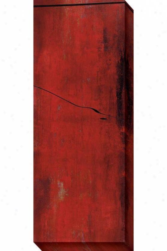 Swayed Ii Canvas Wall Art - Ii, Red