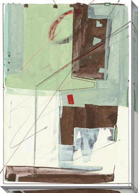 Systematic Ii Canvas Wall Art - Ii, Green