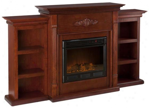 Tabitha Fireplace With Bookcases - Electric Frplce, Marokn
