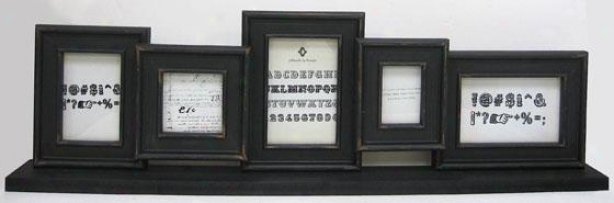 """tabletop Collage Picture Frame - 9""""hx55""""wx2.5""""d, Wicked"""