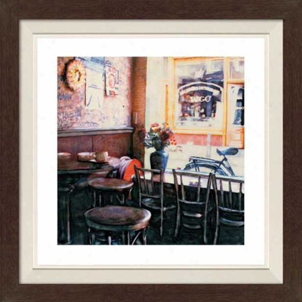 """tango Framed Wall Creation of beauty - 30""""hx30""""w, Fld Espresso"""