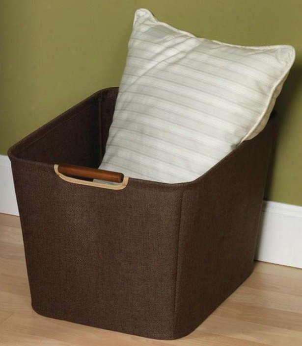 Tapered Bin - Medium, Coffee Linen