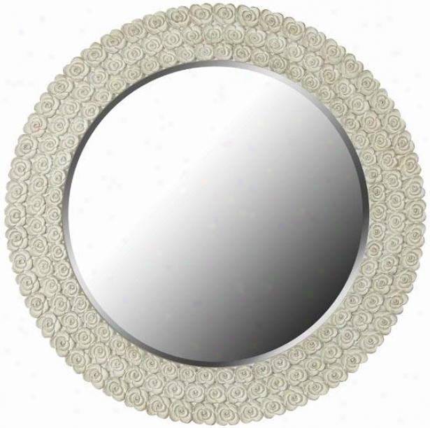 """tavelle Mirror - 30""""roundx1""""d, White"""