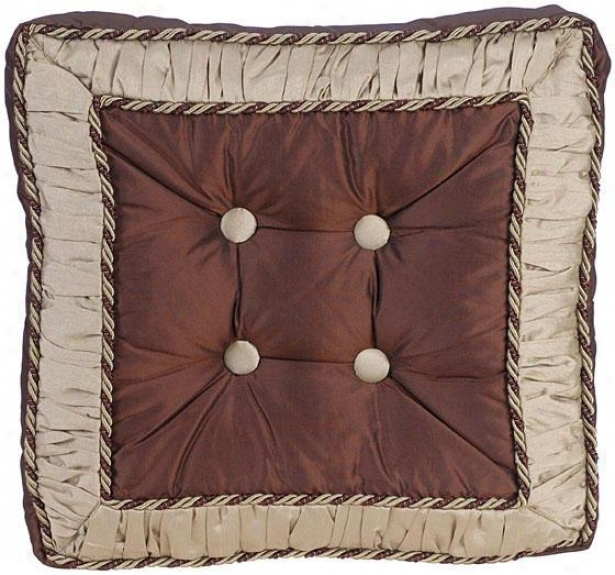 """taylor 18"""" Pillow - 18"""" Square, Chocolate Brown"""