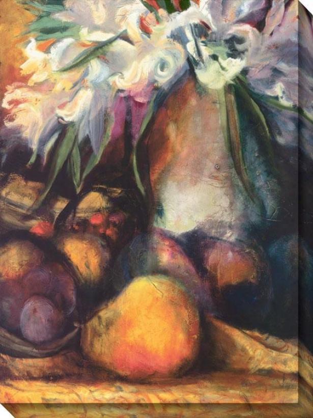 """the Great Vase Canvas Wall rAt - 44""""hx36""""w, Orange/white"""