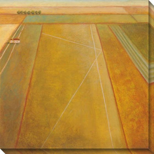 The Land Ii Canvas Wall Art - Ii, Gold