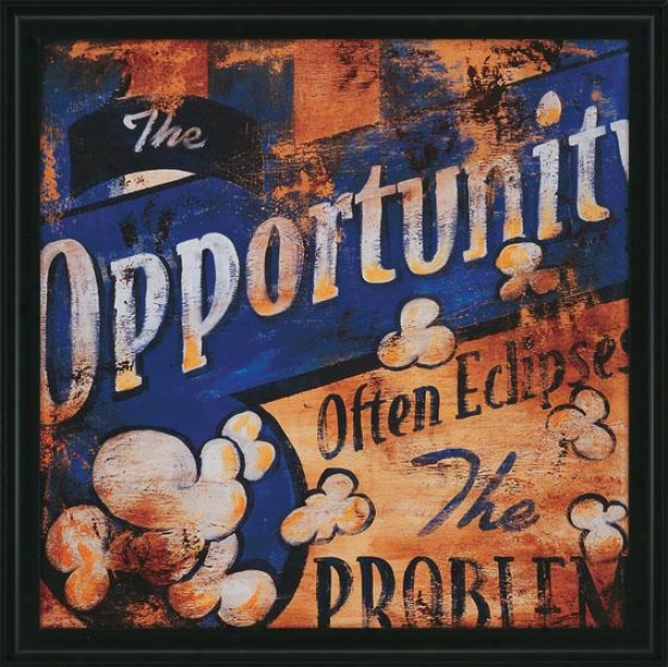 """""""the Opportunity Wall Art - 27""""""""squarex2""""""""d, Blue"""""""