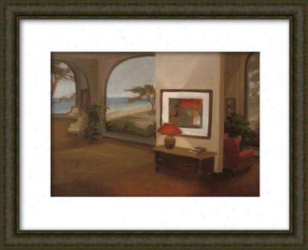 The Tetrace Room Ii Framed Wall Art - Ii, Matted Burlwood