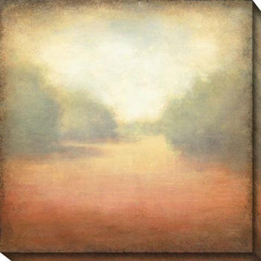There And Away Ii Canvas Wall Art - Ii, Peach