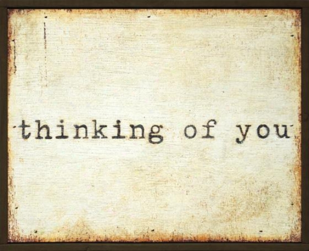 Thinking Of You Little Wall Art - 8.25hx8.25w, Beige