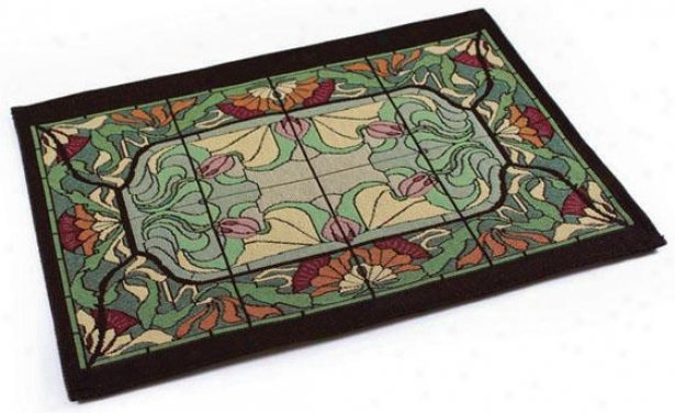 Thisle And Rosebud Table Linens - Place Mat Set Of 4, Multi