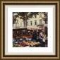"""aix En Provence Framed Wall Art - 32""""hx32""""w, Floated Gold"""