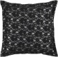Bonnie Decorative Pillow - 18hx18w Down, Black