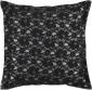 Bonnie Decorative Pillow - 18hx18w Down, Black