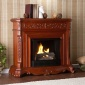 Hartleey Fireplace - Gel Fuel, Greek  Mahoganyx