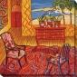 Peacdful Retreat I Canvas Wall Art - I, Red