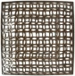 """zion Cutwork Charger - 12.5""""sq, Bronze"""