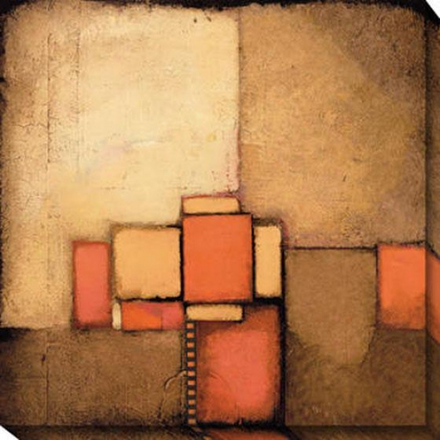 Time Fraagment I Canvas Wall Art - I, Brown