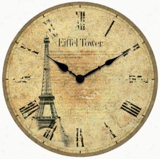 Timepiece - Eiffel Tower Wall Clock - Wall, Silver