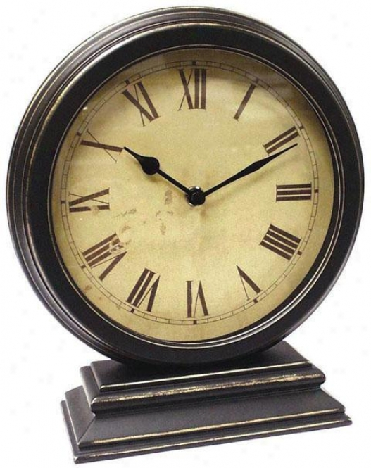"""timepiece - Full Table Clock - 10""""hx9""""w, Black"""