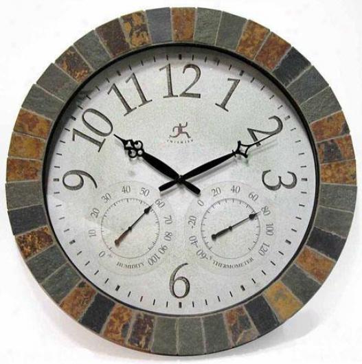 Timepiece - Slate Mosaic Weather Clock - Wall, Multi