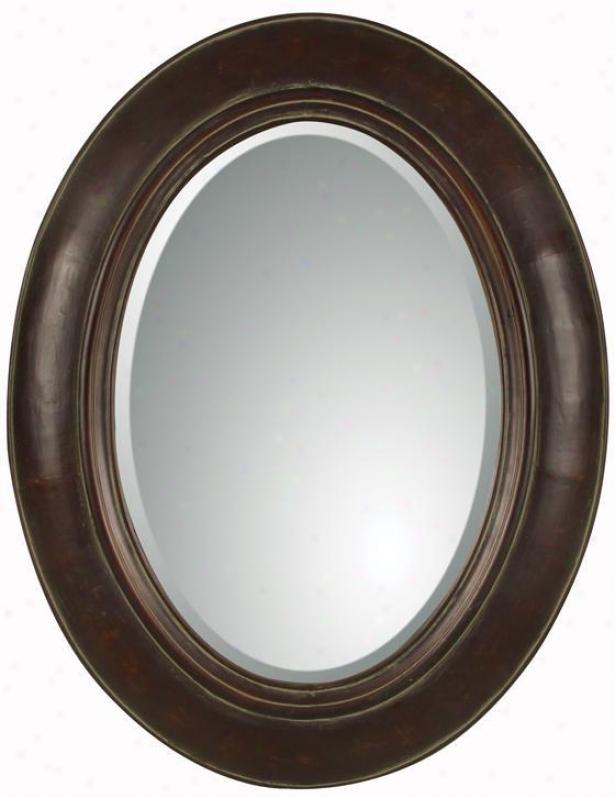 """tivona Mirror - 35""""hx27""""w, Dstrsd Chestnut"""