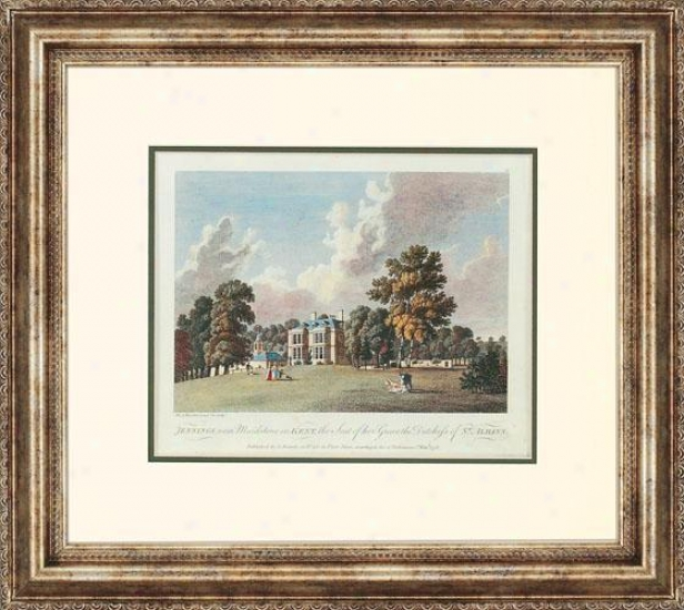 """Orally transmitted Landscapes Framed Art - 21""""hx24""""w, Jennings"""