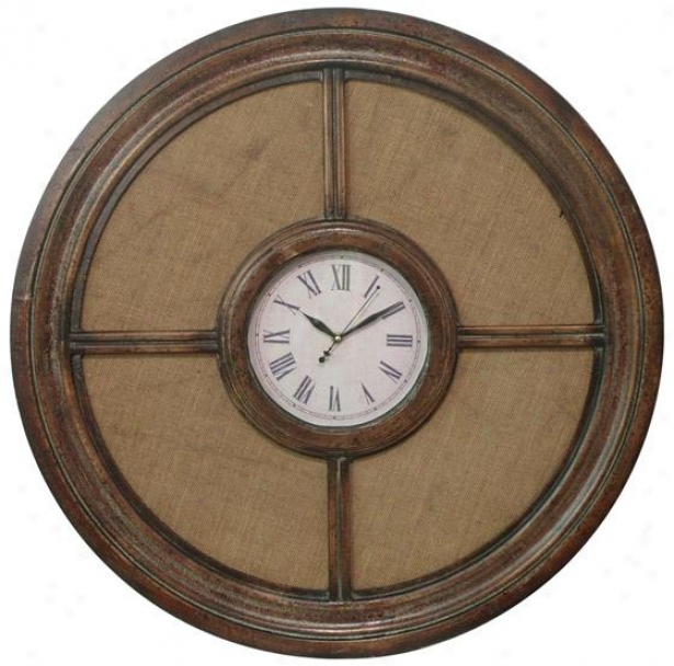 Traditional Wood Wall Clock - 30hx30w, Brown