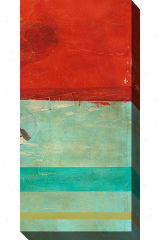 """""""transitory Canvas Wall Art - 24""""""""hx48""""""""w, Red"""""""