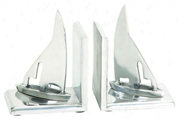 """traveler Bookends - Set Of 2 - Sailboat/5""""x5""""w, Gentle"""