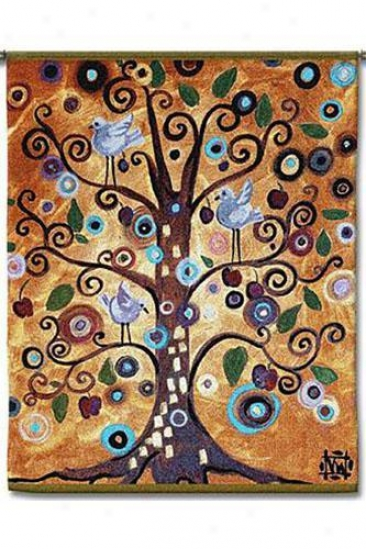 """tree Of Life Series Tapestry - 53""""hx42""""w, Multi"""
