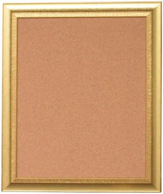 """trina Corkboard - 23.5""""hx19.5""""w, Gold"""