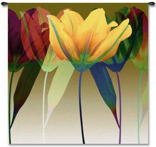 """tulip Tapestry - 51""""hz51""""w, Multi"""