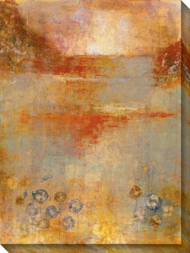 Umber View Ii Canvas Wall Creation of beauty - Ii, Gold