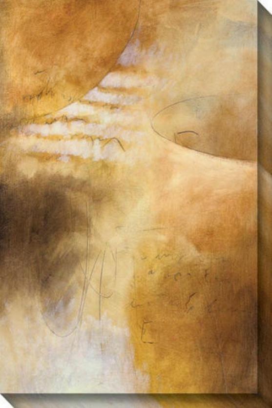 Unending I Canvas Wall Art - I, Gold