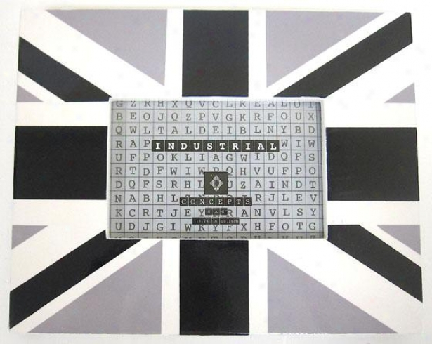 Union Jack Frame - 10x8-holds 4x6, Black And White