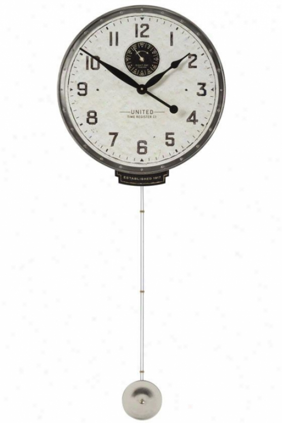 """""""unied Time 18"""""""" Wall Clock - 45 X 18 X 3""""""""d, White"""""""